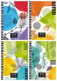 #Блокнот Мікро ембоссінг, формат 125х200 мм, 80 аркушів, дизайн - 18274-18277