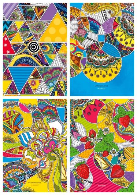 ч.а.Блокнот Мікро ембоссінг, формат В6, 80 аркушів, дизайн -  17142-17145