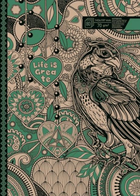 =Блокнот 7БЦ з обкладинкою Крафт, формат 125х200 мм, 120 аркушів, дизайн -1861-1864