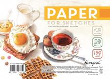 Папір для Ескізів, папір щільністю 190 г / м2, формат А3 (295х415 мм), 20 аркушів, в пачці з етикеткою