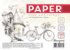 Папір для Ескізів, папір щільністю 190 г / м2, формат А1 ( 590х830 мм), 20 аркушів, в пачці з етикеткою