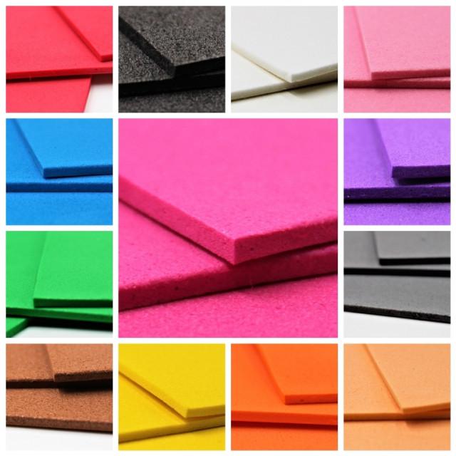Набір кольорового ЕВА матеріалу (Фоаміран) товщина 2,0 мм, розмір 210х297 мм, 5 аркушів, дизайн EVA-028, Чорний