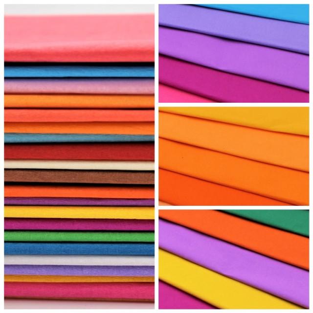 Папір гофрований, розмір 50х200 см, 75 %, 10 штук в упаковці, колір Персиковий