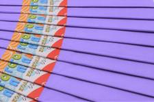 Папір гофрований, розмір 50х200 см, 20%, 10 штук в упаковці, колір  Бузковий