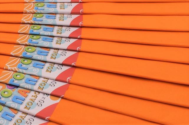 Папір гофрований, розмір 50х200 см, 20%, 10 штук в упаковці, колір  Середній помаранчевий