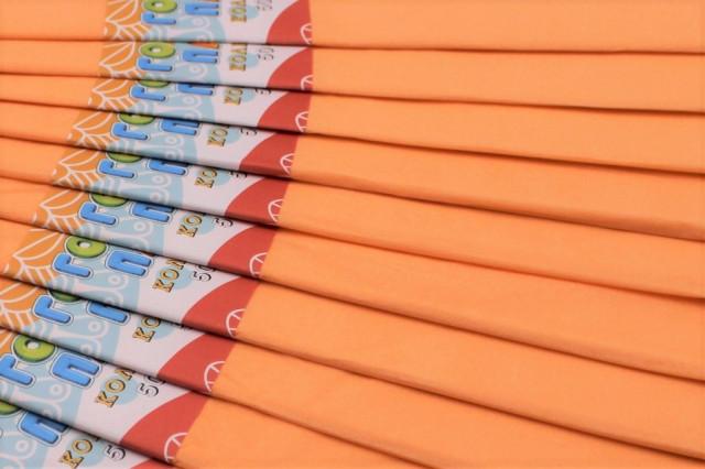 Папір гофрований, розмір 50х200 см, 20%, 10 штук в упаковці, колір Тілесний