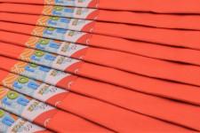 Папір гофрований, розмір 50х200 см, 20%, 10 штук в упаковці, колір Персиковий
