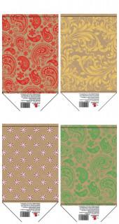Пакет паперовий, розмір 11,4х14,6х6,4  см дизайн  КРЕ1558, КРЕ1916, КРЕ1563, КРЕ1560