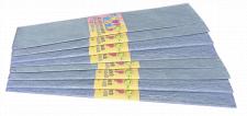 Папір гофрований Перламутровий , розмір 50х200 см,  10 штук в упаковці, колір Блакитний