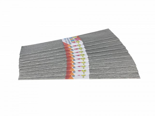 Папір гофрований  , розмір 50х200 см,  10 штук в упаковці, колір Срібний