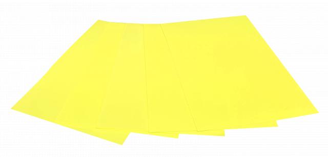 Набір кольорового ЕВА матеріалу (Фоаміран) Флуоресцентний,  2,0 мм, розмір 210х297 мм, 5 аркушів, колір Жовтий