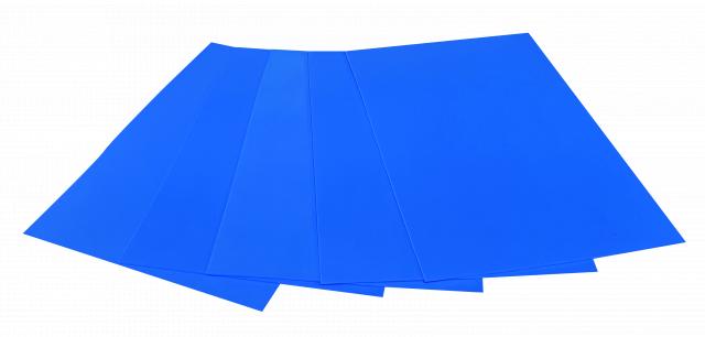 Набір кольорового ЕВА матеріалу (Фоаміран) Флуоресцентний,  2,0 мм, розмір 210х297 мм, 5 аркушів, колір Блакитний