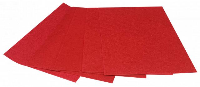 Набір кольорового ЕВА матеріалу (Фоаміран) Плюшевий,  2,0 мм, розмір 210х297 мм, 5 аркушів, колір Червоний