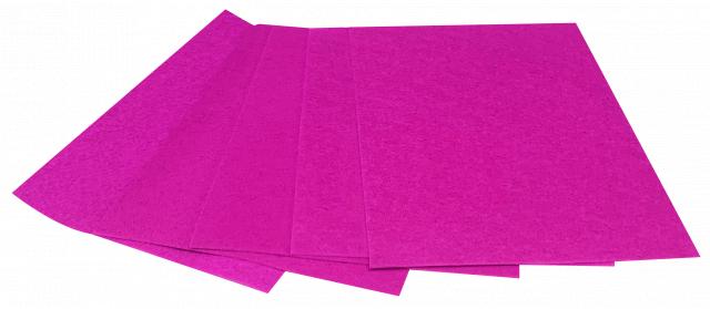 Набір кольорового ЕВА матеріалу (Фоаміран) Плюшевий,  2,0 мм, розмір 210х297 мм, 5 аркушів, колір Фуксія