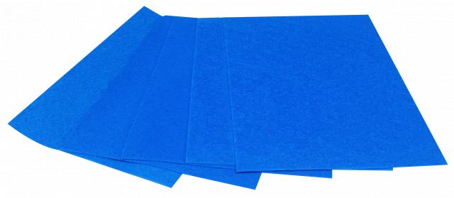 Набір кольорового ЕВА матеріалу (Фоаміран) Плюшевий,  2,0 мм, розмір 210х297 мм, 5 аркушів, колір Блакитний