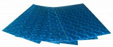 Набір кольорового ЕВА матеріалу (Фоаміран) Голографічний, 1,8 мм, розмір 210х297 мм, 5 аркушів, колір Блакитний