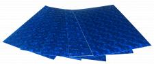 Набір кольорового ЕВА матеріалу (Фоаміран) Голографічний, 1,8 мм, розмір 210х297 мм, 5 аркушів, колір Синій