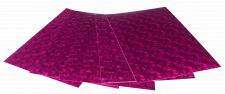 Набір кольорового ЕВА матеріалу (Фоаміран) Голографічний, 1,8 мм, розмір 210х297 мм, 5 аркушів, колір Фіолетовий