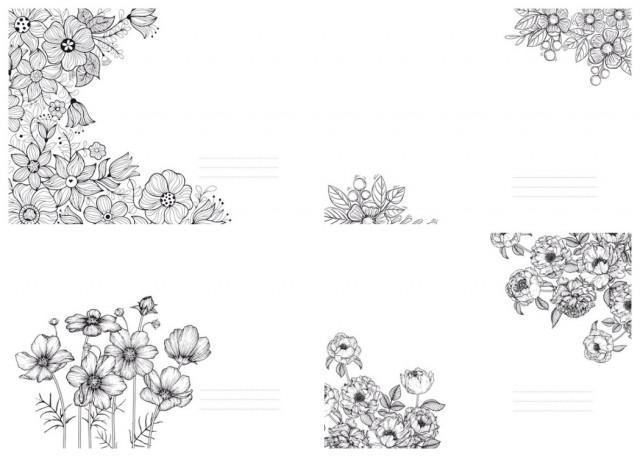 #  Блокнот  Твердий перепліт з Матовим  ламінуванням,  розмір 143х210 мм, 64 аркуша, дизайн -19435-19438