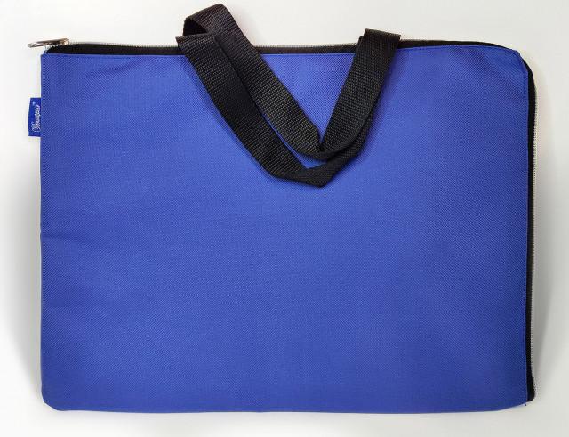 Сумка шкільна, 35х27 см, формат В4 +, м'яка з ручками на одне відділення.  Матеріал: поліестер, дизайн - 0418-DARK BLUE