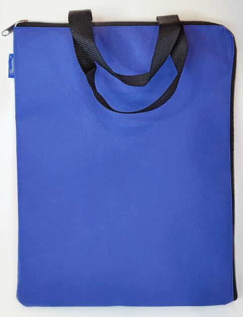 Сумка шкільна, 35х27 см, формат В4 +, м'яка з ручками на одне відділення.  Матеріал: поліестер, дизайн - 0425-DARK BLUE