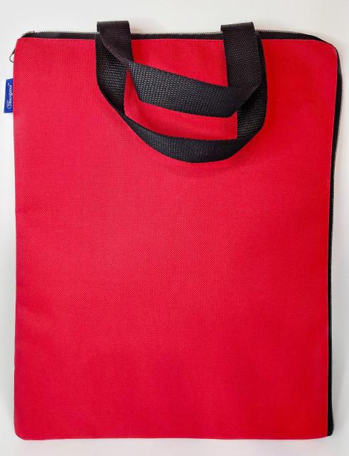 Сумка шкільна, 35х27 см, формат В4 +, м'яка з ручками на одне відділення.  Матеріал: поліестер, дизайн - 0425-RED