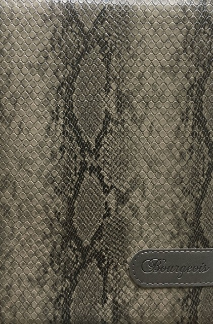 # Блокнот, формат A5, 80 аркушів, обкладинка тверда  зі штучної шкіри , дизайн - N9028