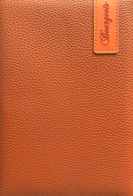 # Блокнот, формат A5, 80 аркушів, обкладинка тверда  зі штучної шкіри , дизайн - N9059