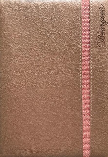 # Блокнот, формат A5, 80 аркушів, обкладинка тверда  зі штучної шкіри , дизайн - N9067