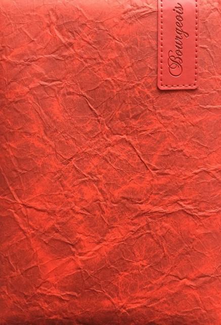 =Блокнот, формат A5, 80 аркушів, обкладинка тверда  зі штучної шкіри, дизайн - N9077