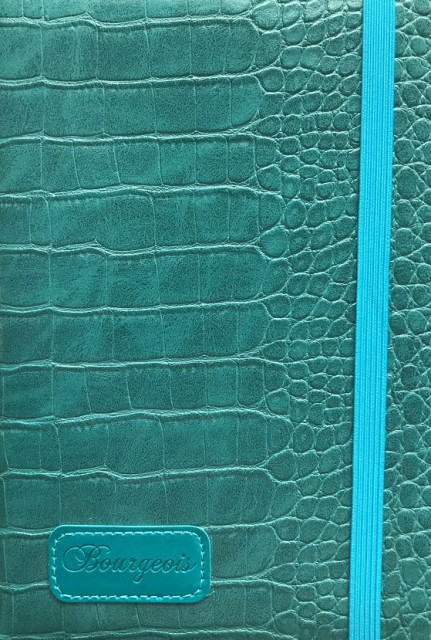 # Блокнот, формат A5, 120 аркушів, обкладинка тверда  зі штучної шкіри, дизайн - N9172