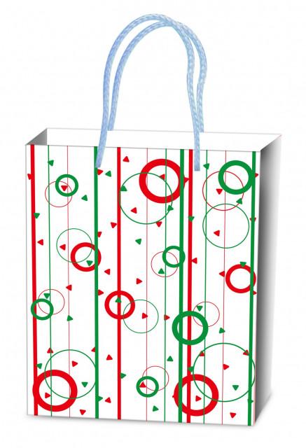 Пакет подарунковий паперовий, розмір -26х32х12 см, дизайн -  GB-20125-20128