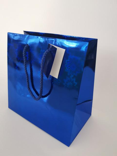 Пакет подарунковий паперовий, розмір 16х16х7 см, дизайн - GB-20187-20190