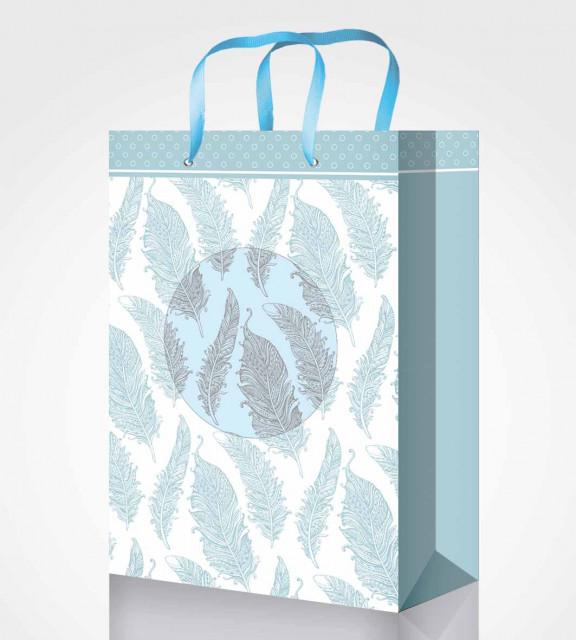 Пакет подарунковий паперовий, розмір - 25х39х8 см, дизайн -GB-20263-20266