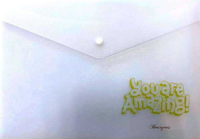 Тека-конверт на кнопці, формат  А4+, 160мкм, дизайн - Р0069
