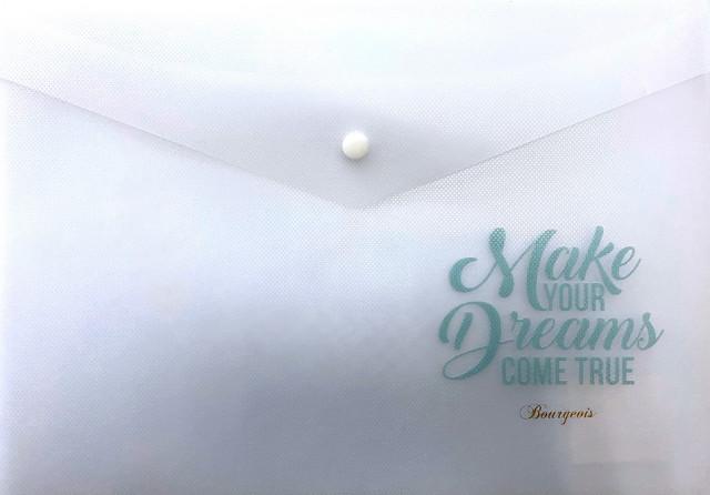 Тека-конверт на кнопці, формат  А4+, 160мкм, дизайн - Р0070
