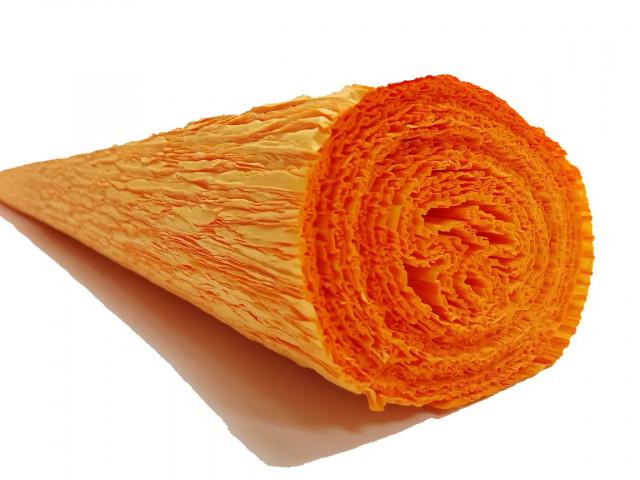 Папір гофрований, розмір 50х200 см, 150 %, 1 рулон в упаковці, FWCP-140-707,  колір Помаранчевий