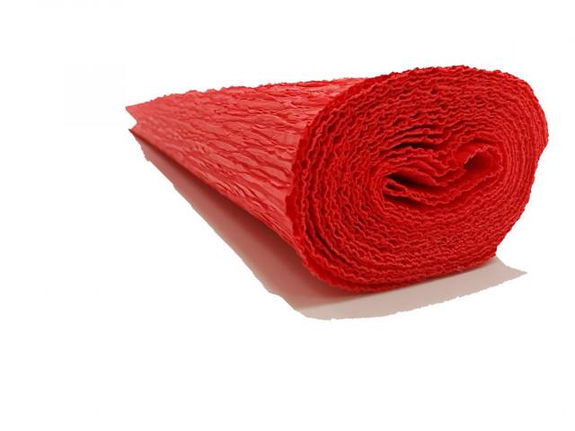Папір гофрований, розмір 50х200 см, 230 %, 1 рулон в упаковці, FWCP-230-4,  колір  Світло-червоний