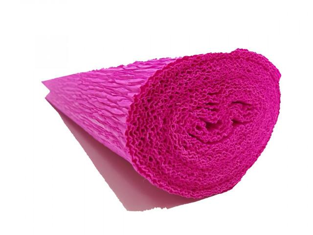 Папір гофрований, розмір 50х200 см, 230 %, 1 рулон в упаковці, FWCP-230-24,  колір  Фуксія