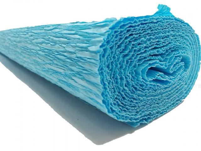 Папір гофрований, розмір 50х200 см, 230 %, 1 рулон в упаковці, FWCP-230-21,  колір  Блакитний