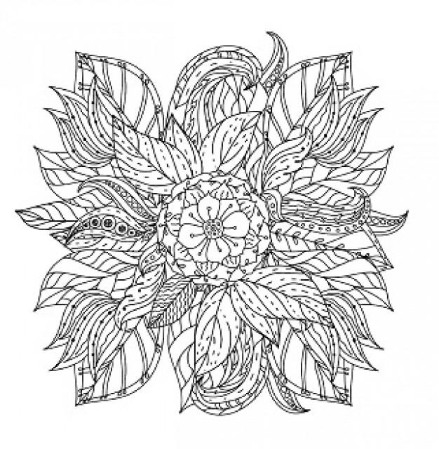 Розфарбовка Антистрес  7БЦ, формат 200х200 мм, 12 аркушів, дизайн - 19177