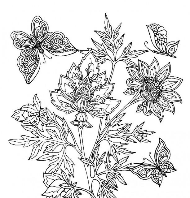Розфарбовка Антистрес  7БЦ, формат 200х200 мм, 12 аркушів, дизайн - 1747