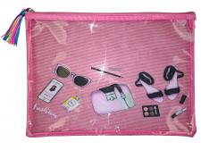 Папка шкільна, 34,5х26,5 см, формат А4 +, м'яка на блискавки на одне відділення.  Матеріал: поліуретан , дизайн - WB-2122- рожевий 1