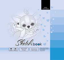 ч.а. Скетчбук 7БЦ, формат  (200х200 мм), 24 аркуша, дизайн-21401