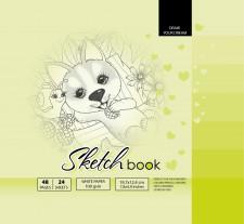 ч.а. Скетчбук 7БЦ, формат  (200х200 мм), 24 аркуша, дизайн-21406