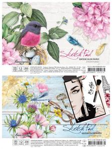 Альбом для Акварелі, 200 г / м2, формат А5 (195х135), 12 аркушів, на спіралі , дизайн-21261-21262