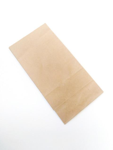 Пакет паперовий Саше, 10х5х22 см, папір  70 г / м2.  Крафт колір Бурий