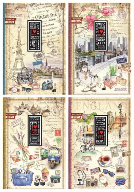 #Блокнот Інтегральна палітурка, формат А4, 160 аркушів, дизайн - 15169-15172