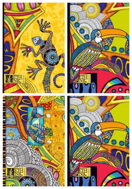 ч.а.Блокнот Мікро ембоссінг, формат А5, 80 аркушів, дизайн - 17116,17117,17118,17217