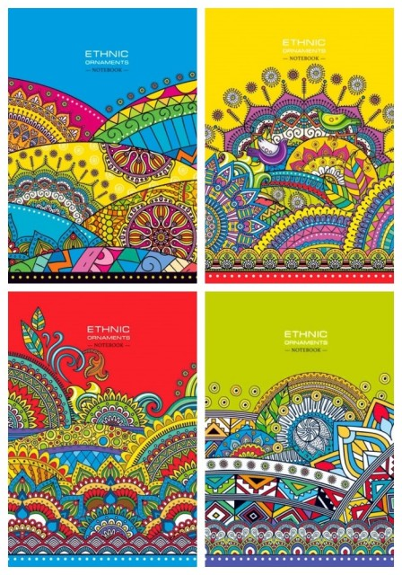 ч.а.Блокнот Мікро ембоссінг, формат А5, 80 аркушів, дизайн - 17119,17120,17121,17214